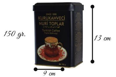 KURUKAHVECİ NURİ TOPLAR 150 GR. Teneke Kutu Türk Kahvesi