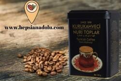KURUKAHVECİ NURİ TOPLAR 150 GR. Teneke Kutu Türk Kahvesi - Thumbnail